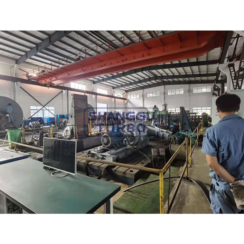 Centrifugal compressor test run